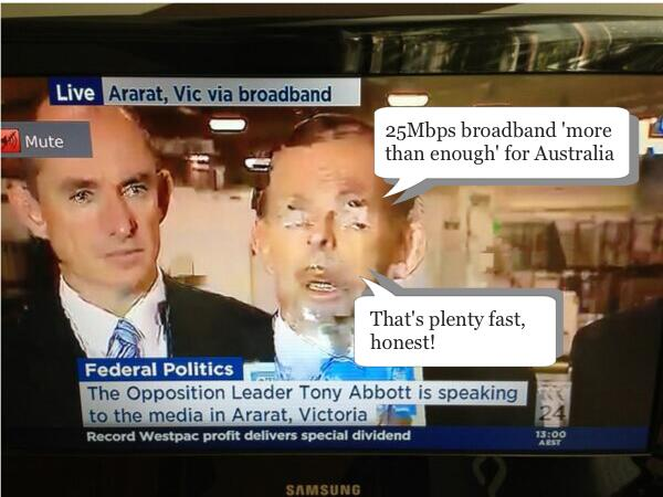 Fraudband vs NBN: Live Streaming over copper.