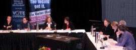 Indi's grassroots QandA, with hashtag: @Jansant reports