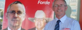 Katter's man in Forde: @stephaniedale22 reports