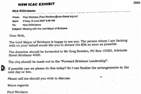 Cash For Campbell - Exhibit at the ICAC Inquiry shows the email between Di Girolamo and Nicolau