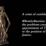 A crisis of confidence.@BowlerBarrister takes a look at the problems created around the appointment of Tim Carmody QC to the position of Qld Chief Justice.