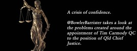 A crisis of confidence: @BowlerBarrister on the #CarmodyCrisis #qldpol