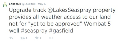 Lakes Oil twitter feed