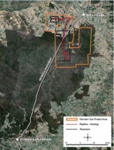Narrabri Project area. Source: Santos Narrabri Gas Project fact sheet.