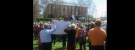 Canberra #PeoplesClimate March: @MargaretOConno5 reports