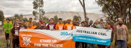 Pacific #ClimateWarriors join #Leardblockade protesting coal and climate change: @Takvera reports