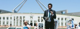 Public and Politicians gather in #Canberra to rally against #OurABC cuts: @jeevens reports