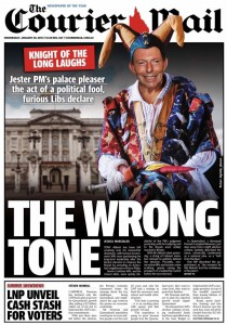 28/01/15 The Courier Mail - LNP unveil cash stash for voters.