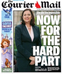 14/02/15 The Courier Mail - She did the impossible - Now for the hard part.