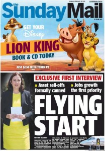 15/02/15 The Sunday Mail - Flying Start
