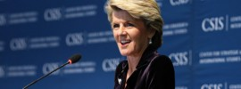 Foreign Affairs Minister Julie Bishop evades on #climate change risk to security reports @Takvera