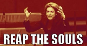 Michaelia Cash dark side? Reap the souls.