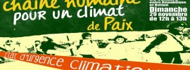 Marches banned, Paris plans human chain for #climate of peace reports @takvera #COP21