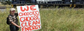 Coal train protest ends 1st week of #Leardblockade action on #coal reports @takvera