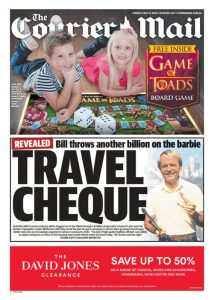 The Courier Mail - Travel Cheque, May 31, 2016.