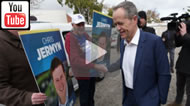 AAP: Chris Jermyn says he wanted to hear what Bill Shorten had to say.