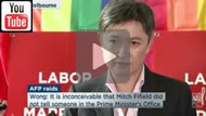 ABC News 24: Penny Wong & Mark Dreyfus respond to NBN leak on AFP raids & Mitch Fifield.