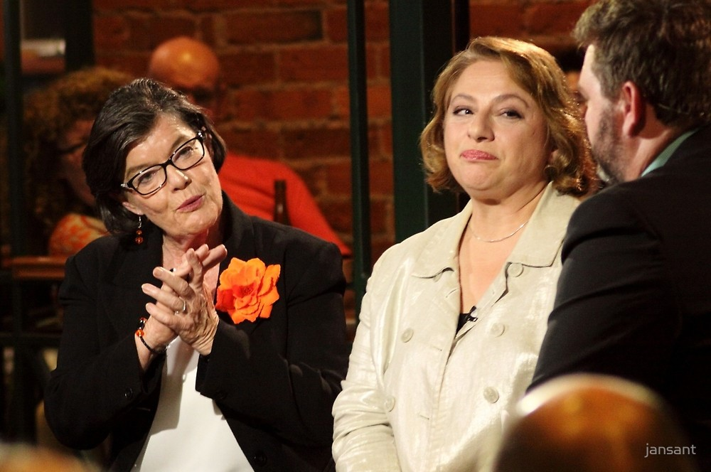 Cathy McGowan and Sophie Mirabella Sky PM Live Forum 2016.  Photo jansant