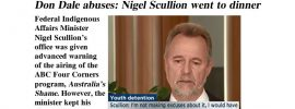 Don Dale abuses: Nigel Scullion went to dinner – @Qldaah #ntpol #auspol