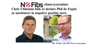 Chris Uhlmann fails to declare Phil de Fegely as auctioneer