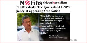 PHONy deals: The Queensland LNP's policy of appeasing One Nation