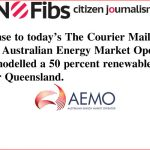 AEMO has not modelled a 50 percent renewable energy target for Qld #qldvotes #qldpol @Qldaah