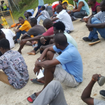 Beaten and tired #refugees protest rough sleeping at East Lorengau after removal from #Manus RPC: @jansant reports