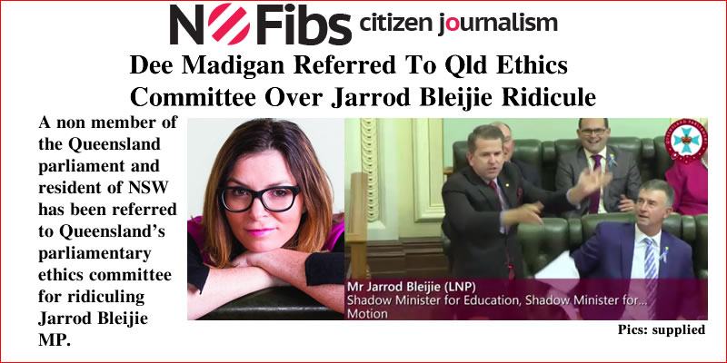 Dee Madigan referred to Qld Ethics Committee over Jarrod Bleijie ridicule – @qldaah #qldpol